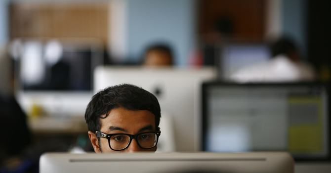 Software engineer at CloudFactory Campus. Oct 5, 2012. – Reuters (File Photo)