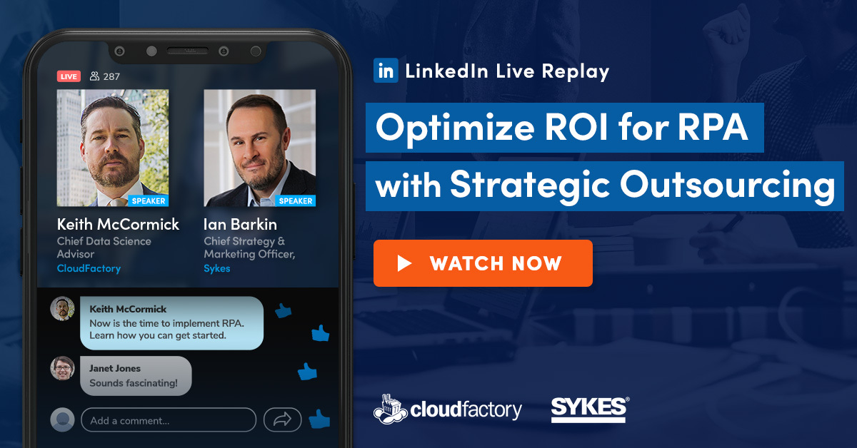 Optimize ROI for RPA with Strategic Outsourcing
