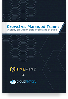 Crowd vs. Managed Team: A Study on Quality Data Processing at Scale