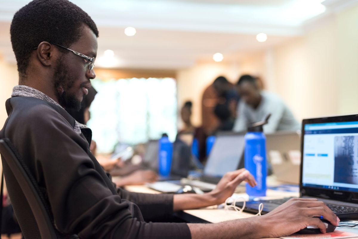Workforce Working on Computer